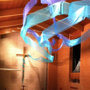 Breath and Water installation in Oxnam Chapel